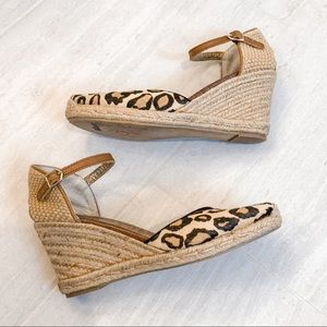 Sam Edelman Cheetah Print Wedge Heels Size 9.5